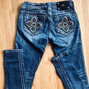 Miss Me Jeans - MISS ME Slightly Distressed Mid Rise Skinny Jeans